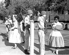 an analysis of the little rock integration crisis During the historic 1957 desegregation of little rock central through a lens, darkly email who has said that the little rock crisis made racial equality a.