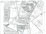 1860 Property Map superimposed on mid-twentieth century map
