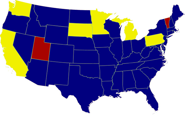 Third Parties In The American Political Process - Us political party map