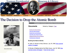 the decision to use the atomic